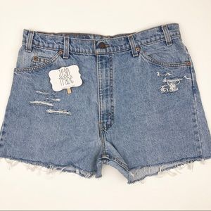 Levi's Distressed Cut Off Jean Shorts